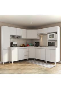 Cozinha Completa 16 Portas 3 Gavetas Viena Branco - Viero Móveis