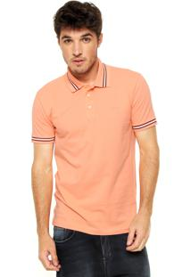 Camisa Polo Colcci Slim Coral