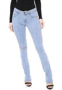 Calça Jeans Lança Perfume Bootcut Giletado Azul