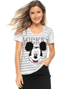 Camiseta Cativa Disney Bordada Branca