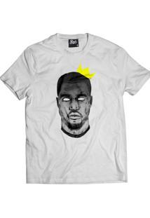 Camiseta Manga Curta Skull Clothing Kanye King Branco