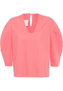 Camisa Feminina Manga Presunto Circo - Rosa