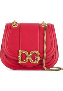 Dolce & Gabbana Bolsa Transversal Dg Amore - Vermelho