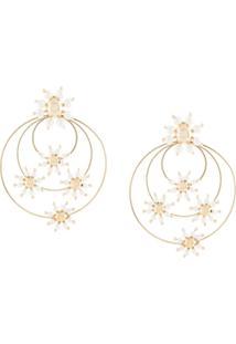 Rosantica Daisy Faux-Pearl Earrings - Dourado