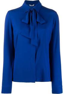 P.A.R.O.S.H. Blusa Com Laço Na Gola - Azul