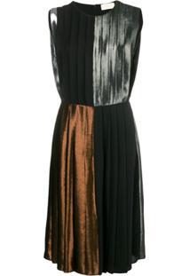 Christopher Kane Vestido Color Block - Metálico