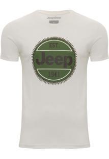 Camiseta Jeep Logo Redondo - Masculino