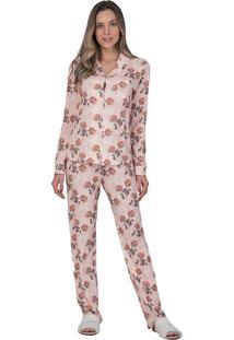 Pijama Aberto Monet Lua Luá Rosa