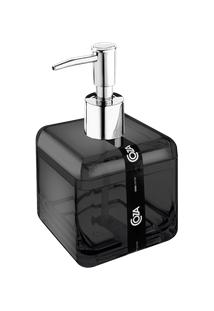 Porta-Sabonete Líquido Cube 8,5 X 8,5 X 15 Cm 330 Ml Fume Coza