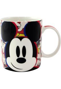 Caneca Mickey E Minnie Colorida