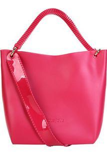 Bolsa Petite Jolie Shopper Fosca Detalhe Corrente Feminina - Feminino-Rosa