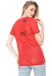 Camiseta Carmim Honey Vermelha