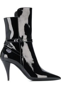 Saint Laurent Kiki Ankle Boots - Preto