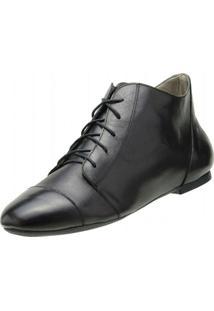Bota Encinas Leather Ankle Boot - Feminino-Preto