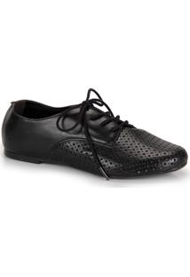 44d92af9a ... Sapato Oxford Bico Redondo Via Uno Furos