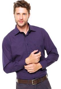 Camisa Aleatory Full Slim Roxa