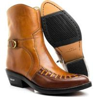 d487d8bab Bota Texana Hb Agabe Boots India Havana Masculina - Masculino-Café