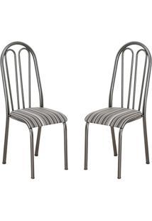 Conjunto 2 Cadeiras Barbarie Preto Listrado