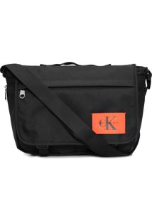 Bolsa Pasta Masculina Ckj Nylon Re Issue - Preto