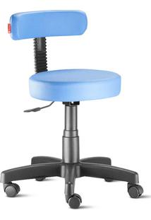 Cadeira Mocho Slim Azul Céu Giratória