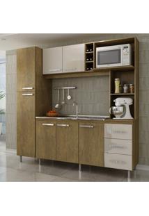 Cozinha Compacta 7 Portas 3 Gavetas Cartagena Mapi Móveis Abs Sm C41 Soft