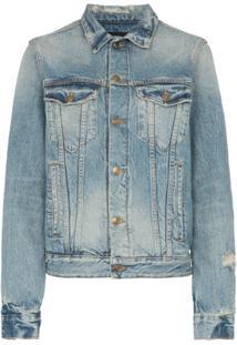 Alanui Jaqueta Jeans Com Paisagem De Deserto - Azul