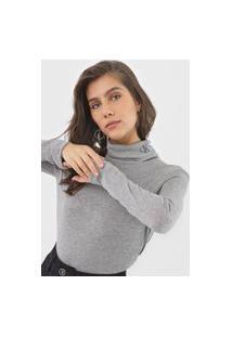 Blusa Calvin Klein Jeans Gola Rolê Cinza