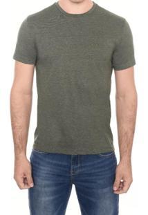 Camiseta M/C Gola C Barra Contraste M.Officer Verde