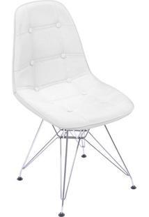Cadeira Eames Botonãª- Branca & Prateada- 83X44X39Cm