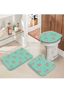 Jogo Tapetes Para Banheiro Cute