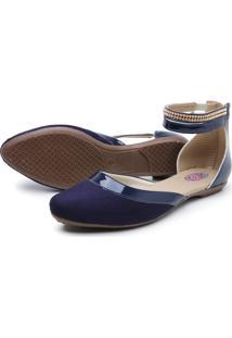 Sapatilha Confortável Feminina Fashion Azul