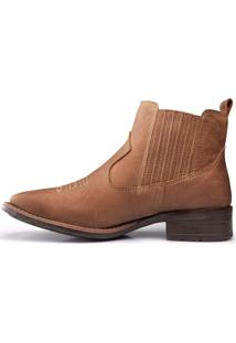 Botina Country Em Couro Capelli Boots Bege
