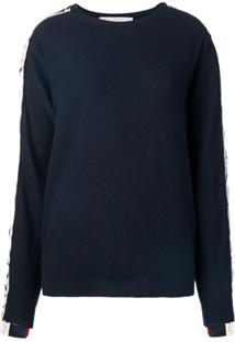 Stella Mccartney Suéter Com Logo - Azul
