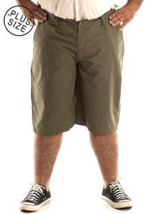 Bermuda Konciny Sarja Plus Size Verde Musgo