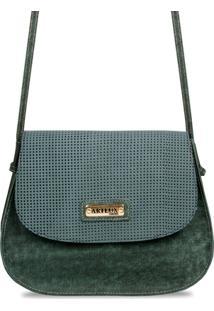 Bolsa Artlux Transversal 8095 - Feminino-Verde Escuro