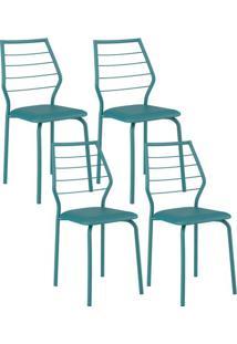 Cadeira 1716 04 Unidades Turquesa Carraro