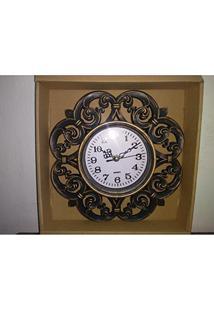 64722c67c02 Relógio De Parede Analógico Retrô Vintage