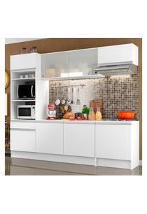 Cozinha Completa Madesa Topazio Com Armário, Balcáo E Tampo Branco