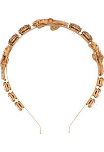 Dolce & Gabbana Hairband Com Laço - Dourado