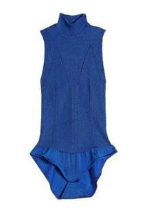 Body Tricot Eva - Feminino-Azul Royal