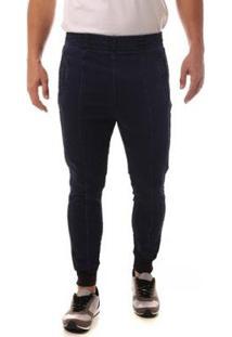 Calça Jeans Denuncia Jogger Masculina - Masculino-Azul