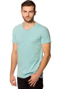 Camiseta Básica 4Me Gola V Verde