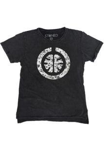 Camiseta Longline Stoned Estonada Signature White Masculina - Masculino-Cinza