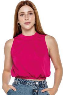 Blusa Rosa Escuro Satin Fosco