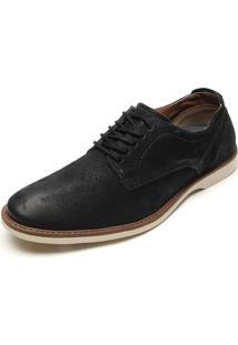 Sapato Social Couro Kildare Fosco Preto