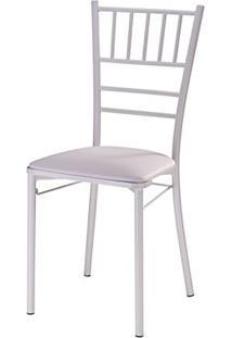 Cadeira Tiffany Assento Korino Branco Com Base Branca - 46859 Sun House