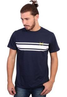 Camiseta England Polo Club - Masculino-Marinho