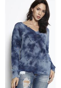 Blusa Tie Dye - Azul & Azul Escuro - John Johnjohn John