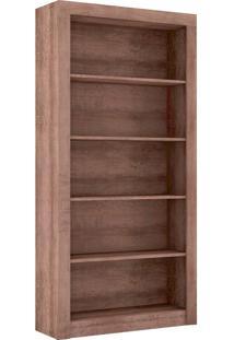 Estante Para Livros Biblioteca G Esm 208 Rústico - Móvel Bento