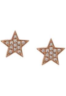 Dana Rebecca Brinco De Ouro Rosê 14Kt E Diamantes - Dourado